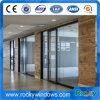 Revêtement en poudre coulissante en verre feuilleté et de la vitre de porte en aluminium