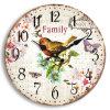 Reloj de pared del MDF de la vendimia con diseños del pájaro