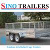 10X6 Aanhangwagens de Achter elkaar van de Doos van ATV Flatbed
