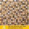 Желтый цвет и плитки мозаики 02 смешивания Brown стеклянные