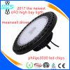 2018 luces de aluminio ultra finas de la bahía del UFO LED del reflector altas