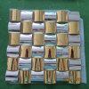 Metallmosaik-Fliesen (goldene Farbe u. Silberfarbe)