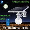luz solar del sensor de la noche del jardín de 9W LED con el certificado IP65
