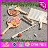 Jogo de pesca magnético de madeira engraçado de brinquedo de crianças 2015, brinquedo de madeira DIY 3 em 1 (brinquedo de pesca, brinquedo de peixe de corte, brinquedo de peixe de cozinha) W01A069