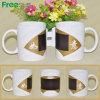 11oz Ceramic White Mug con Fan Color Changing