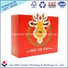 Kundenspezifischer niedrige Kosten-weißer Kraftpapier-Fertigkeit-frohe Weihnacht-Papierbeutel für Geschenk