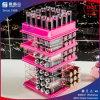 Support acrylique tournant coloré de rouge à lievres de vente chaude