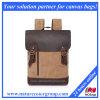 La escuela de la mochila de la cubierta del cuero del morral de la lona de la vendimia se divierte la mochila de los bolsos (SBB-035)