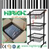 Nivel 3 Wire Basket Display Soporte de exhibición del estante