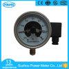 4  100mmすべてのステンレス鋼の電気接触の圧力計