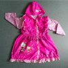 예쁜 디자인 분홍색 색깔 PVC 소녀를 위한 방수 비 착용