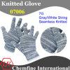 7g серый / белый полиэстер / хлопок трикотажные перчатки с белым Over Блокировка