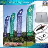 Изготовленный на заказ логос рекламируя знамя летания пера