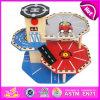 2015 lustiges Wooden Car Park Toy für Kids, Pretend Toy Wooden Park Games Toys für Children, Highquality Wooden Car Park Toy W04b010