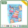 Bolsa de papel azul del regalo del recuerdo del supermercado de la ropa de la torta de cumpleaños