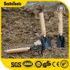 3PCS木製のハンドルが付いている小さい小型の園芸工具の一定の庭のシャベル