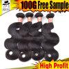 2015自然な人間の毛髪の織り方、バージンの人間の毛髪のよこ糸、ブラジルの人間の毛髪の拡張