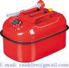 5 Container van de Portable van het Metaal van gal 20L de Horizontale Benzine van de Stookolie van Jerry Gerry Can