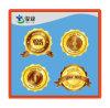 La timbratura di oro ha impresso i contrassegni di carta di stampa degli autoadesivi del metallo
