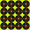 La salpicadura reactiva de las blancos del papel del Shooting de la diana repartió amarillo fluorescente