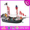 La mayoría de las naves de pirata de madera populares del juguete de los muchachos DIY para la venta de la tapa de la venta embroman las naves de pirata de madera del juguete para la venta W03b062