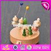 Лучший дизайн мультфильм несут деревянные игрушки малыша музыку в салоне W07b045