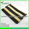LadyのためのLuda Striped Crochet Raffia Straw Handbag