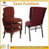 Boas cadeiras Stackable conetadas da igreja de Burgandy do assento da adoração