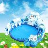 Nuova sosta gonfiabile personalizzata dell'acqua per il parco di divertimenti