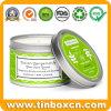 Caixa de estanho personalizado Vela Perfumada com embalagem pode para viagens