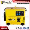 Kleiner beweglicher luftgekühlter 5kw/5kVA 100% kupferner Draht-leiser Dieselgenerator