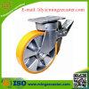 Euroepan Typ Hochleistungsaluminiumkern PU-Bremsen-Fußrolle