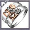 Für immer Sterlingsilber-Form-Hochzeits-Paar-Schmucksache-Ring der Liebes-925