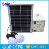 Mini sistema chiaro domestico solare del Portable 5W con due lampade ed USB per la casa o l'uso d'escursione/di campeggio