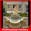 Giardino poco costoso Larger Water Fountain di White Marble Stone con Sculpture