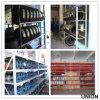 Shelving longo da extensão, no armazenamento do armazém