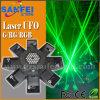 16 녹색 빨간 파랑 레이저 광선 UFO 단계 빛