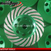 D125mm Turbo Segment Cup Wheel pour le broyage agressif