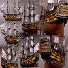Модель корабля маштаба подгоняет создателей шлюпки модельных (BM-0473)