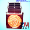 12 pollici indicatore luminoso d'avvertimento infiammante giallo solare di traffico dell'OEM & di ODM