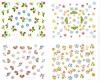 Fleurs 3D à la mode, autocollants à ongles en eau douce, autocollants à ongles