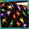 Свет шнура Multi-Color Dragonfly энергосберегающий солнечный СИД
