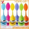 Filtro de chá de silicone com forma de folha de 100% de qualidade alimentar (YB-AB-005)