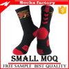El baloncesto de encargo de los hombres del algodón se divierte calcetines antideslizantes