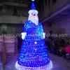 LEIDENE van de Decoratie van de Hoogte van 4m de Lichten van de Openlucht Reusachtige Kerstman van Kerstmis