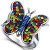 Ultimi anelli dell'animale della farfalla dei monili di modo