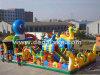 Ville gonflable d'amusement de dragon avec le parc d'attractions de glissière d'octobre