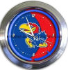"""Reloj de neón de Kansas 15 """""""