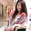 Digital gedruckter Silk Satin-Schal für Dame