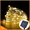 Guirlande solaire de lampe de décor de noce de Noël de câblage cuivre des lumières de Noël de quirlande électrique de lampe de chaîne de caractères 10m 100 DEL